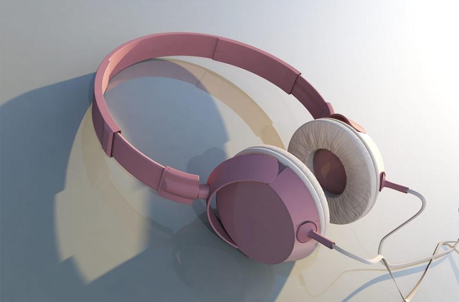 Copy of grafika produktowa 3d - model słuchawek 1